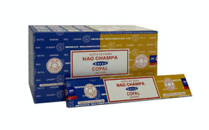 Satya Copal Nag Champa Incense Joss Sticks 15g available in 3 or 12 Pack