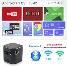 Mini Projector Beam Pocket Touch-Keys Movie Wifi Bluetooth Android Home Theater