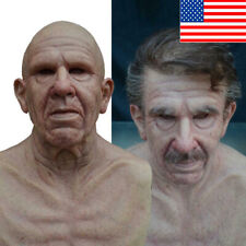New Cosplay Bald Old Man Creepy Wrinkle Face Mask Halloween Party Carnival Props