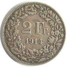 Schweiz 2 Franken 1914 B,Helvetia, Silber