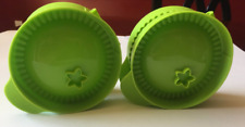 "Tupperware Ravioli, Pizza Rolls, Pastry, Empanada Maker Set of Two 4"" Green New"