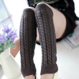 Mens Womens Crochet Boot Cuffs Socks Faux Leg Warmer Boot Toppers Socks Knitted