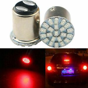 Best 2Pcs Red 1157 BAY15D 22 SMD LED Bulbs Break Stop Light Turn Signal Lamp