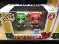 Funko Pop! McDonald's Fry Kids 2 Pack Green Red Shop Exclusive! w/ Protector