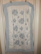 Chris Madden Jcpenney Home Coll Belmont White Light Blue Floral King Pillow Sham