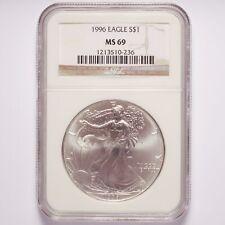 1996 Silver American Eagle Dollar NGC MS69