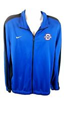 Nike Men's Dri-Fit Basketball Zip-Up Jacket Blue Polyester Cleveland Size XL
