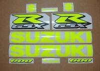 GSXR 600 neon fluo yellow decals stickers graphics kit set fluorescent signal k5