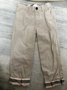 Burberry Boys-Kids Canvas Pants Size 5Y-110 cm