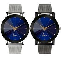 ASAMO Herren Armbanduhr mit Edelstahl Armband Quarz Analog Uhr Herrenuhr AMA081