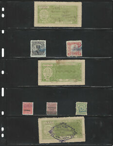 EARLY INDIA COURT FEE REVENUE STAMP LOT ON ALBUM PAGE RAJASTHAN, RATLAM