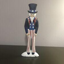 "Cast Iron ""Uncle Sam� Door Stop – Vintage Americana!"
