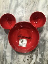 "Disney Mickey Mouse Serving Dish Food Tray Red ""New�"