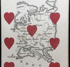 1839 Russia Principality Playing Card Europeanization Map Cartography Single