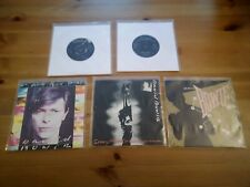 "DAVID BOWIE 7"" VINYL SINGLES BUNDLE 5x 45s Sleeves G to VG Records VG to VG+"