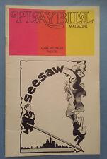 SEESAW Playbill (August 1973) Michele Lee + John Gavin + Tommy Tune