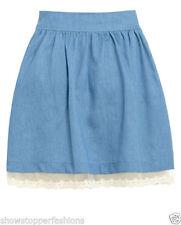 Gonne e minigonne da donna blu in cotone taglia 44