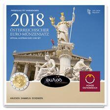 Set BU AUTRICHE 2018 - Série 1 cent à 1 euro + 2€ commémorative AUTRICHE 2018