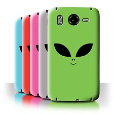 STUFF4 Back Case/Cover/Skin for HTC Desire HD/G10/Extraterrestrial Alien Face