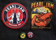 Pearl Jam 2018 Boston Fenway sticker pin set button not Seattle Chicago Missoula