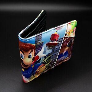 Cute Super Mario Bros Purse Short Bifold Fashion Leather Wallet S1