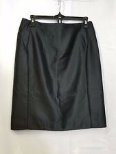SINO London Black Lined Pencil Skirt Womens Size 8