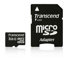 8GB Transcend microSDHC CL10 high-speed memory card with SD adapter