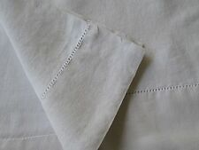 """ANTIQUE FRENCH  LINEN SHEET 91"""" x 99"""". ANTIQUE WHITE Slipcover Upholstery Fabric"""