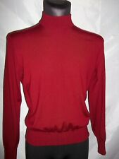 FERRANTE men's  throat sweater size M. 100 % extrafine ( lana merino) wool ,bur