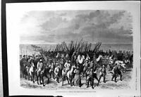 Old Expedition Khiwa Steppes Marching Camels Horses Foot Siers 1873 Victorian