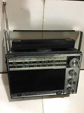 VINTAGE  WORLD RADIO HITACHI   4-BANDS  MW(-AM) SW-LW -MARINE 1960S RARE