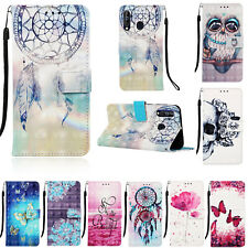 3D Leather Magnetic Flip Wallet Card Case Cover For iPhone 11 Samsung S20 Note10