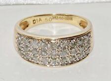 9ct Oro Giallo 0.50ct Diamond Donna Nozze/Eternity anello-Taglia L