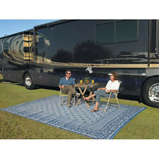 Patio Mat Indoor Outdoor 9'x12' Picnic Carpet Reversible Deck Rug Washable RV