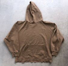 Vintage 90s Distressed Faded Brown Hoodie Sweatshirt Jansport XL