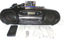 VINTAGE PANASONIC PORTABLE CD/DOUBLE CASSETTE STEREO SYSTEM  RX-DT55 W/REMOTE