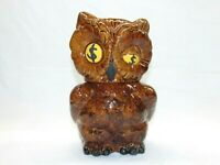 Vintage Shawnee Pottery Winking Owl Cookie Jar Coin Bank 1940's Made In USA