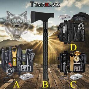 Außen Notfall Survival Gear Kit Tomahawk Axt Beil Überleben Outdoor Camping Tool