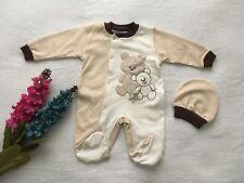 ♥ Neu ♥ Babykleidung | 2-teilig | Unisex, Strampler, Mütze, |Gr.74|