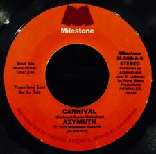 AZYMUTH-Carnival-Rare Electro Jazz Funk Soul Promotional 45-MILESTONE #M-308