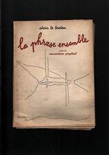 N° 2040 / livre : la phrase ensemble par Alain Le Breton    1948