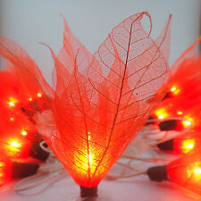 20 Orange Bodhi Leave Flower Fairy Lights String 3.5M Party Patio Home Decor