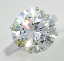 4 ct Round Ring Vintage Brilliant Top Russian CZ Moissanite Simulant Size 7