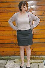 skirt mini jupe laine grise MARITHE FRANCOIS GIRBAUD T 44   NEUVE ÉTIQUETTE