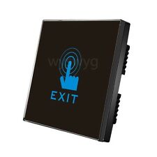 2013 Black Wall Mount Touch Sensor Switch LED light of Access Control system