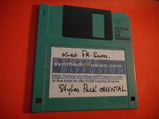 Styles Pack oriental Tabla derbouka Disk 3.5 KORG i30 PA 80 i3 i4s i5 i5s i40M