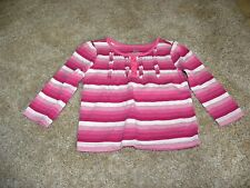 The Children's Place Toddler Girls Pink White Stripe Shirt Top Size 18 months