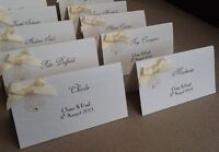 10 Handmade Personalised Vintage Style Name Place Cards wedding table plan
