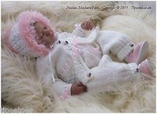 DK Knitting Pattern 24 TO KNIT Baby Girls or Reborn Dolls Cardigan Hat Trousers