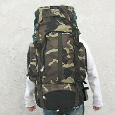 Camo Camping Backpack Travel Outdoor Oversized Backpack Rucksacks Sport XL